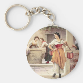 Eugene de Blaas- Flirtation at the Well Key Chains