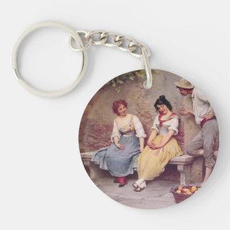 Eugene de Blaas- The Flirtation Acrylic Key Chains