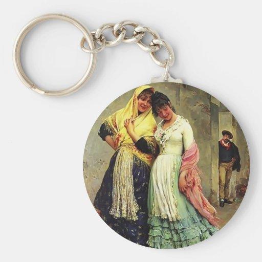 Eugene de Blaas- The Flirtation Keychains