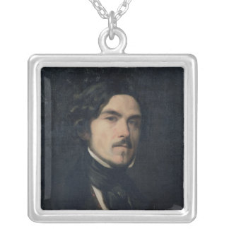 Eugene Delacroix  1840 Silver Plated Necklace