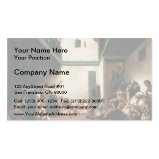 Eugene Delacroix- A Jewish wedding in Morocco Business Card Templates