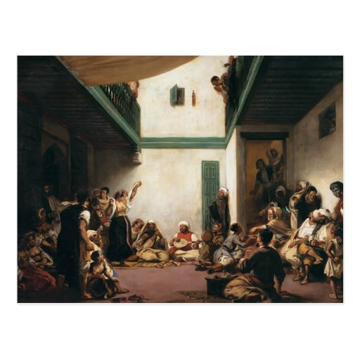 Eugene Delacroix- A Jewish wedding in Morocco Post Cards