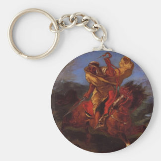 Eugene Delacroix- An Arab Horseman at the Gallop Keychains