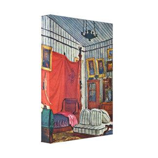 Eugene Delacroix - Bedroom of Count de Mornay Gallery Wrap Canvas