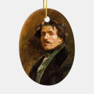 Eugene Delacroix Ceramic Oval Decoration
