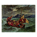Eugene Delacroix - Christ in the Sea of Galilee Posters