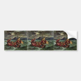 Eugene Delacroix- Christ on the Sea of Galilee Bumper Sticker
