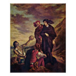 Eugene Delacroix - Hamlet and Horatio Poster
