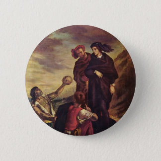 Eugene Delacroix- Hamlet & Horatio in the cemetery 6 Cm Round Badge