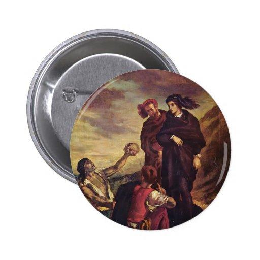 Eugene Delacroix- Hamlet & Horatio in the cemetery Button