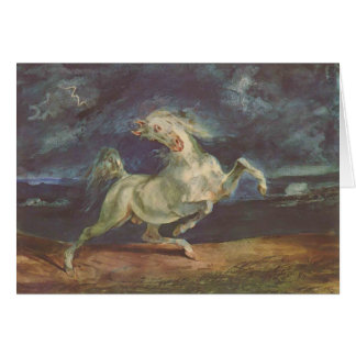 Eugene Delacroix: Horse Frightened by a Storm Card
