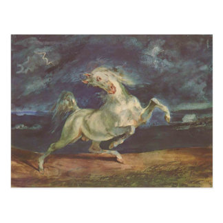 Eugene Delacroix: Horse Frightened by a Storm Postcard