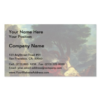 Eugene Delacroix- Lion Hunt in Morocco Business Card Template