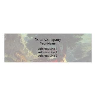 Eugene Delacroix- Lion Hunt in Morocco Business Card Templates
