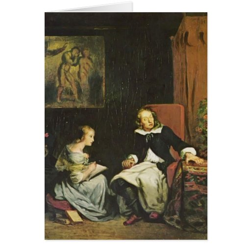 Eugene Delacroix:Milton dictated to his daughters Cards