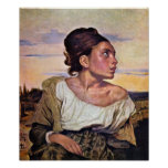 Eugene Delacroix - Orphan child in the cemetery Poster