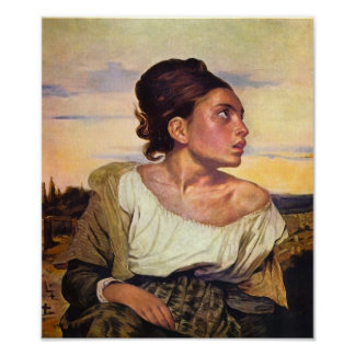 Eugène Delacroix - Orphan in the Cemetery Poster