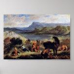 Eugene Delacroix - Ovid at the Scythians Print