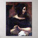 Eugene Delacroix - Portrait of George Sand Posters
