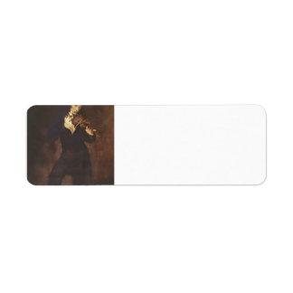 Eugene Delacroix- Portrait of Paganini Return Address Label