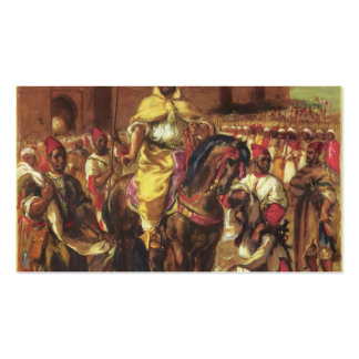 Eugene Delacroix-Portrait of the Sultan of Morocco Business Card Templates