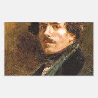 Eugene Delacroix Rectangular Sticker