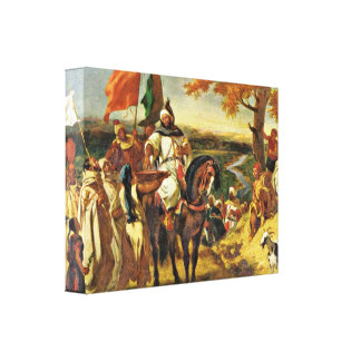 Eugene Delacroix - Sheik visited his tribe Gallery Wrapped Canvas