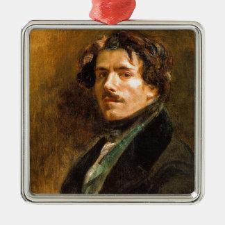 Eugene Delacroix Silver-Colored Square Decoration