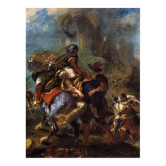 Eugene Delacroix- The Abduction of Rebecca Postcard