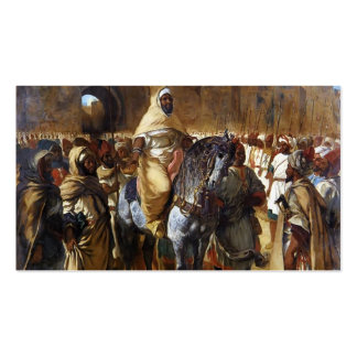 Eugene Delacroix- The Sultan of Morocco leaving Business Card Templates