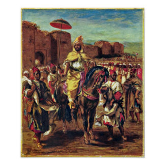 Eugene Delacroix - The Sultan of Morocco Poster