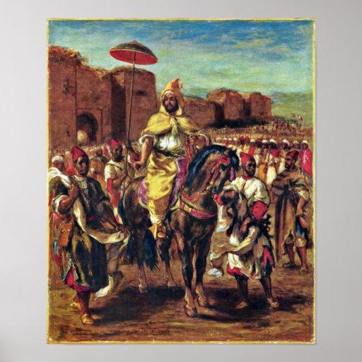 Eugene Delacroix - The Sultan of Morocco Poster
