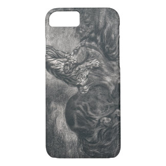 Eugene Delacroix - Wild Horse Felled by a Tiger iPhone 7 Case