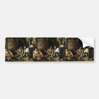 Eugene Delacroix- Women of Algiers in Apartment Bumper Sticker