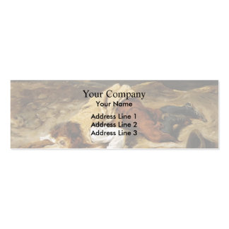 Eugene Delacroix- Wounded Brigand Quenches Thirst Pack Of Skinny Business Cards
