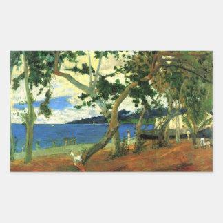 Eugène Henri Paul Gauguin - Beach Scene 2 Rectangular Sticker