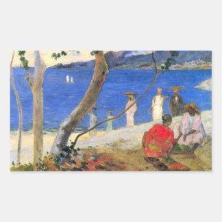 Eugène Henri Paul Gauguin - Beach Scene Rectangular Sticker