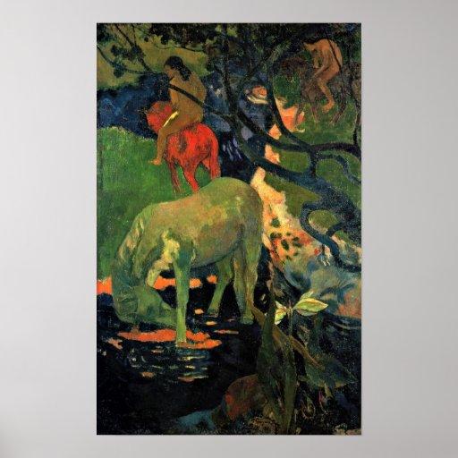 Eugene Henri Paul Gauguin - Der Schimmel Poster