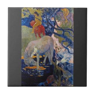Eugène Henri Paul Gauguin - The White Horse Tile