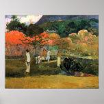 Eugene Henri Paul Gauguin - Women and Mould Poster