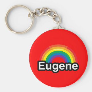 EUGENE LGBT PRIDE RAINBOW KEYCHAINS