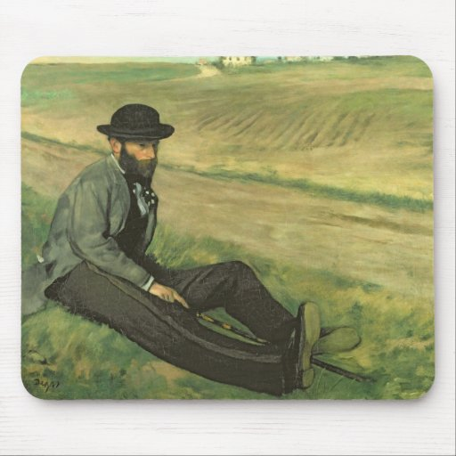 Eugene Manet (oil on canvas) Mouse Pad