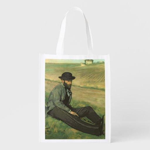 Eugene Manet (oil on canvas) Grocery Bag