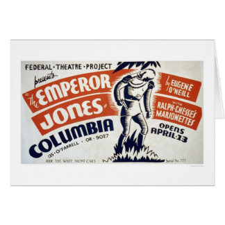 Eugene ONeill Emperor 1937 WPA Greeting Card