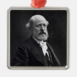 Eugene Viollet-le-Duc Silver-Colored Square Decoration
