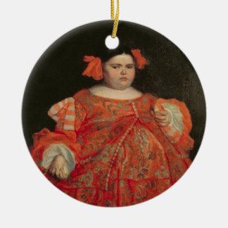 Eugenia Martinez Vallejo, called La Monstrua (oil Christmas Ornament