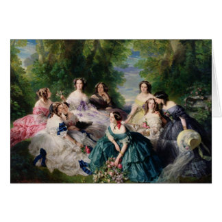 Eugenie Surrounded by her Ladies-in-Waiting Greeting Card