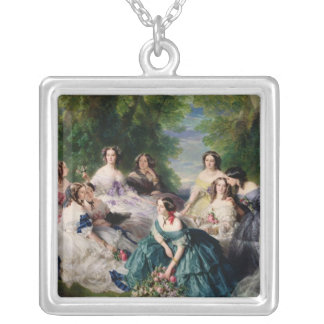 Eugenie Surrounded by her Ladies-in-Waiting Silver Plated Necklace