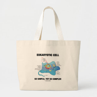 Eukaryotic Cell So Simple, Yet So Complex Jumbo Tote Bag