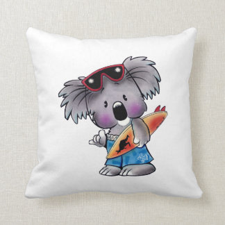 Euki the Surf Koala Pillow